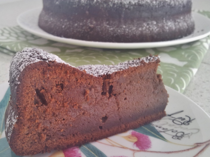 Choc chestnut cake slice