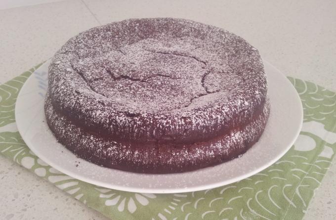 Choc chestnut cake